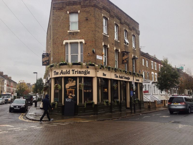 The Auld Triangle pub in Finsbury Park