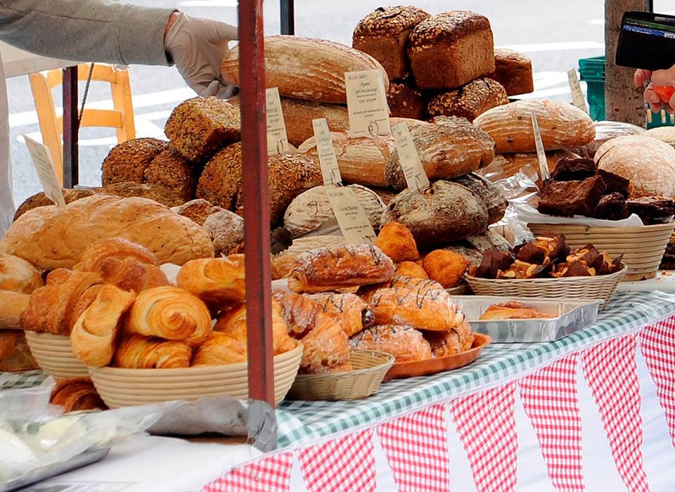 A selection of French breads and pastries at the continental Archway Market