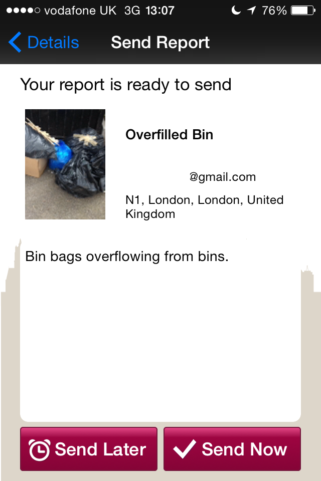 Reporting the rubbish.