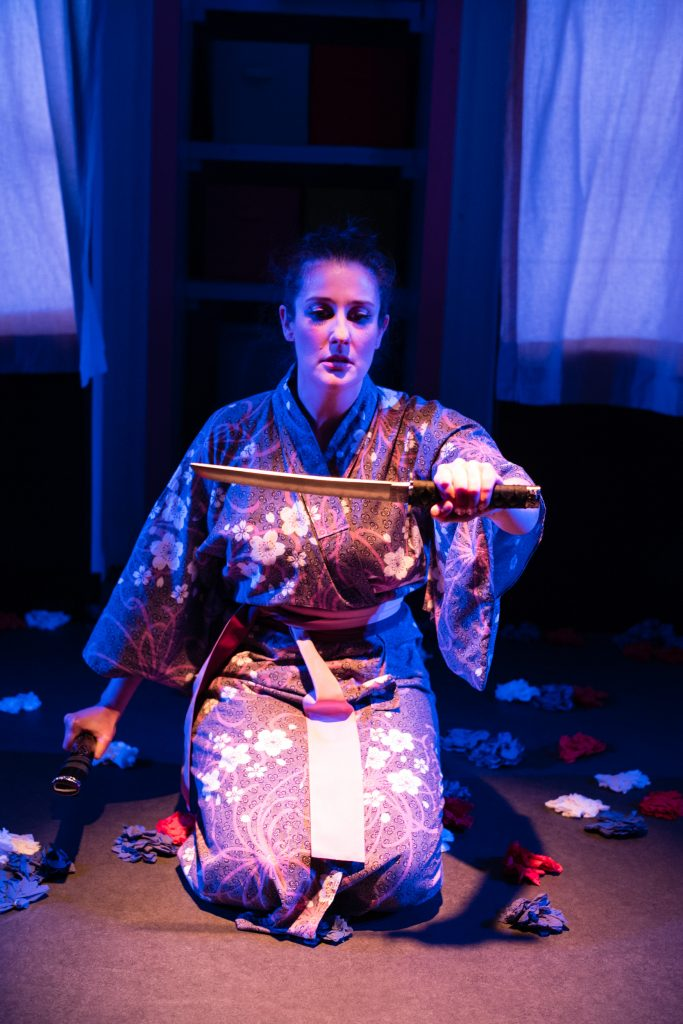 Madam Butterfly - The Kings Head - Stephanie Edwards as Butterfly - photo Christopher Tribble