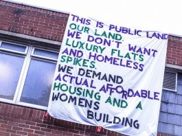 Locals demand affordable housing at the site of Holloway Prison which closed last year.